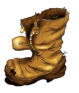 Schuh kaputt