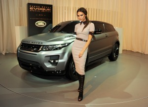 Design collaboration with Victoria Beckham for Land Rover's Evoque Special Edition