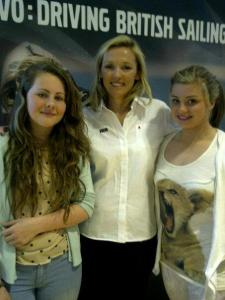 Double Olympic gold winner sailor Shirley Robertson with daughter Jasmine (left) and her friend Shannon (right)